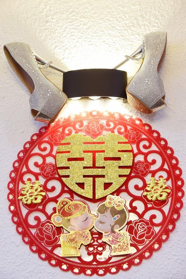 шикарное венчание ботинка стоковые фото