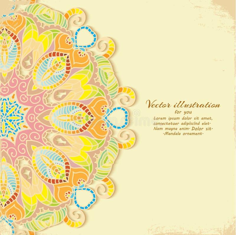Шикарное индийское украшение на темной предпосылке. иллюстрация штока
