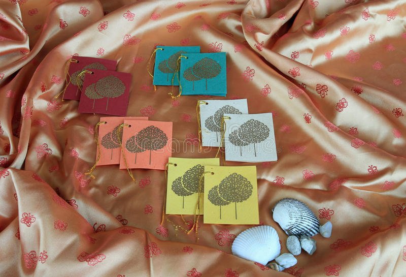 шикарные бирки подарка стоковое изображение