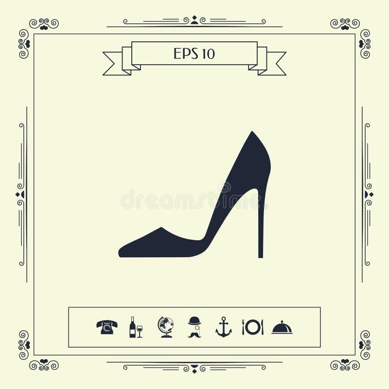 шикарные женщины ботинка иллюстрация штока
