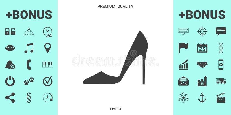 шикарные женщины ботинка иллюстрация вектора