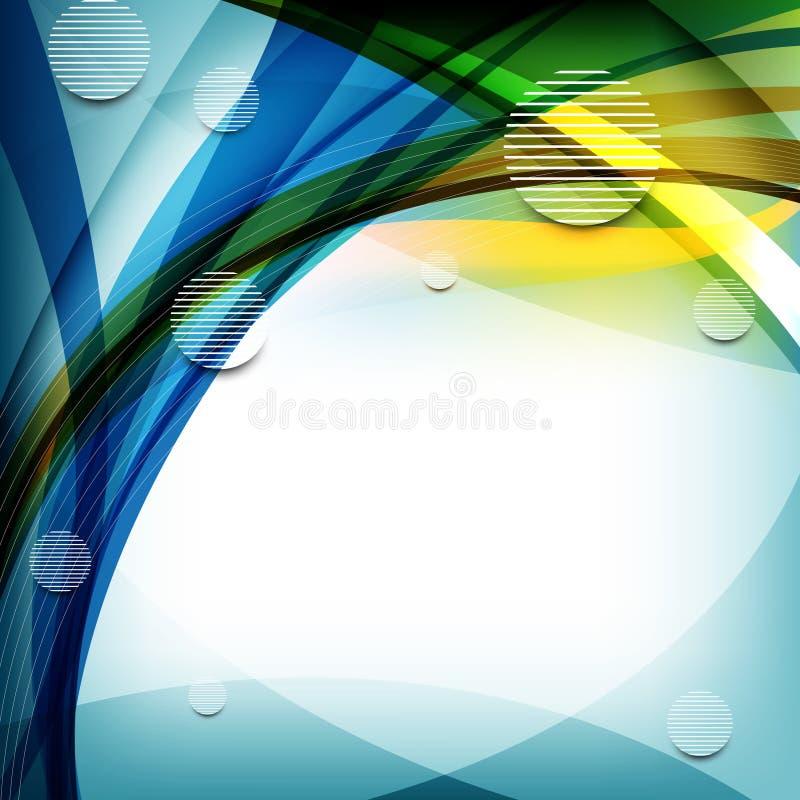 шикарные линии круглые волны элементов вектора иллюстрация штока