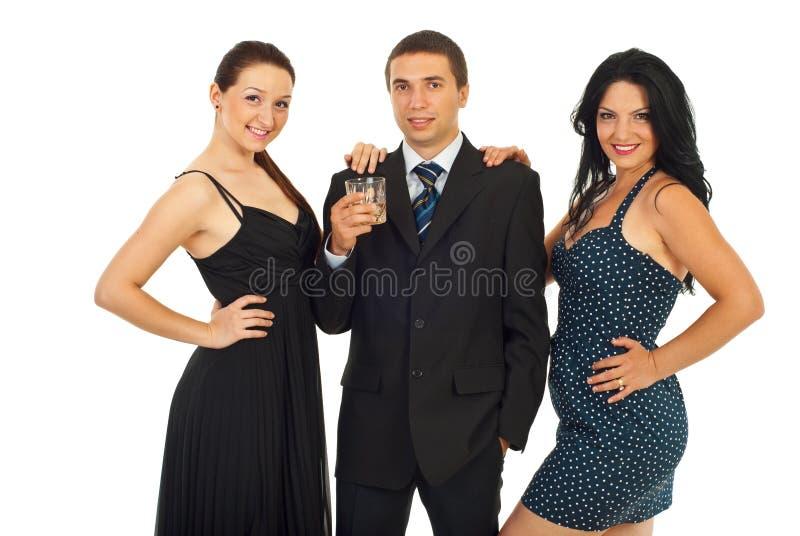 шикарные люди партии стоковое изображение rf