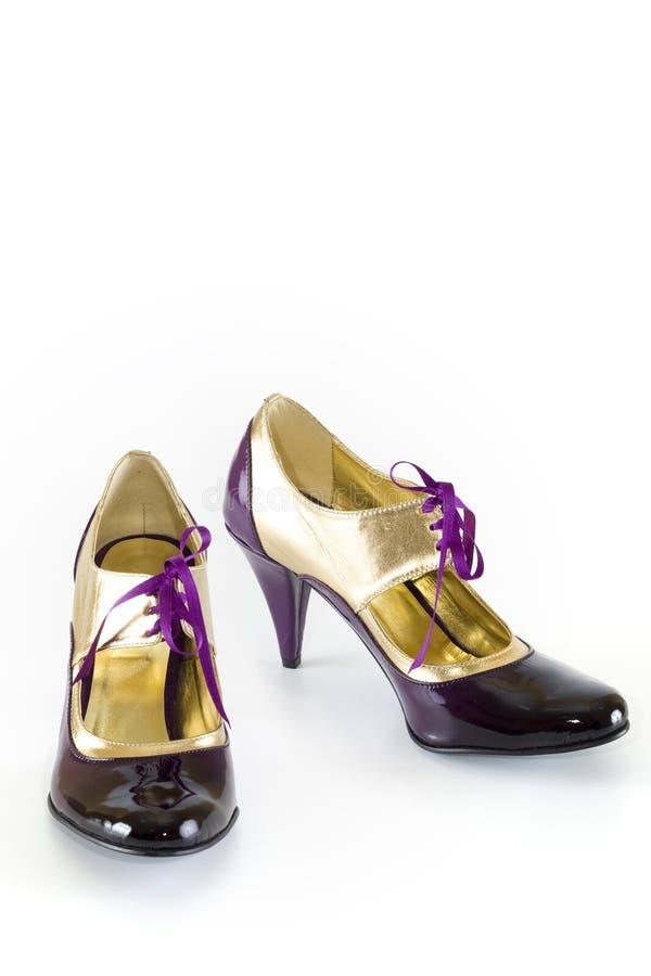 шикарные самомоднейшие ботинки стоковое фото rf