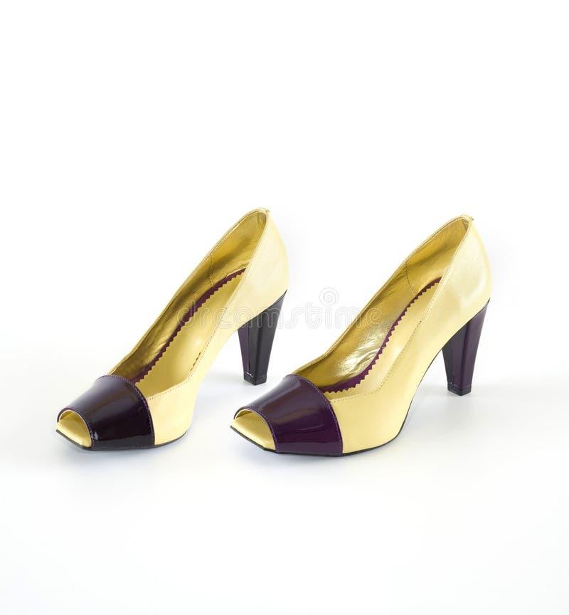 шикарные самомоднейшие ботинки стоковые изображения