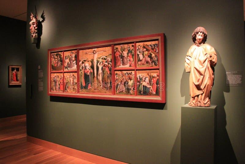 Шикарные части художественного произведения и статуй, музея изобразительных искусств Кливленда, Огайо, 2016 стоковые изображения rf