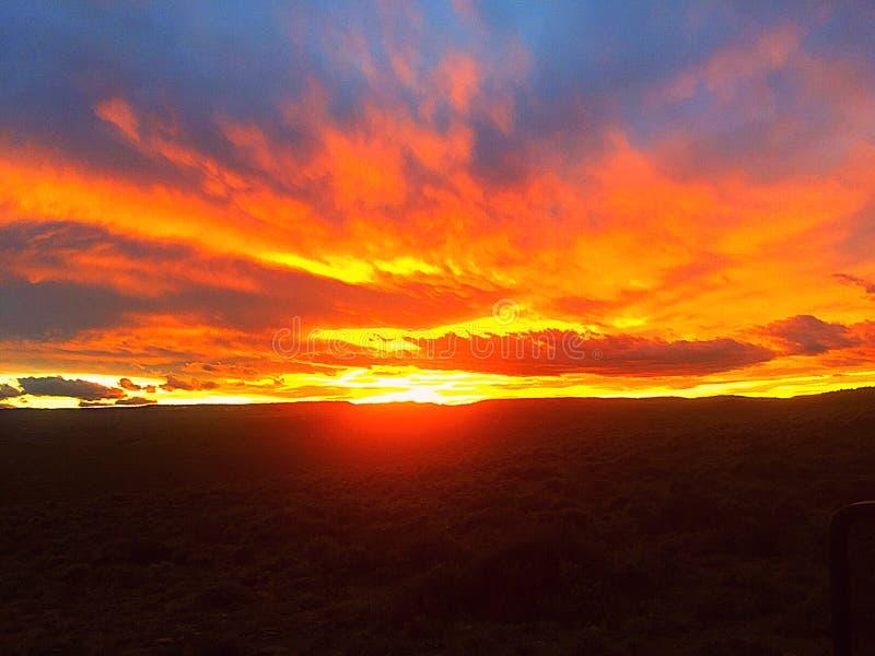 Шикарный заход солнца Колорадо стоковые фото