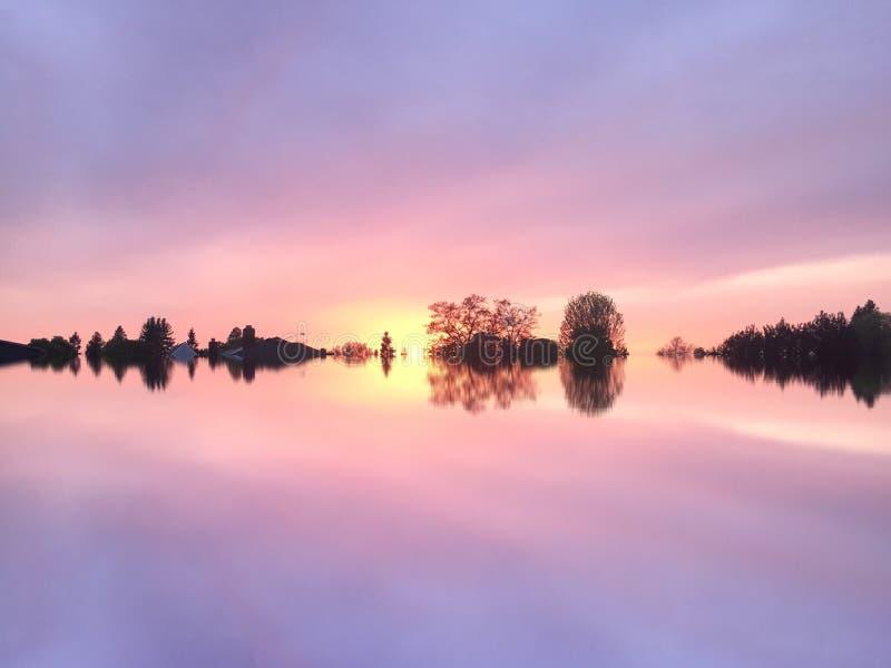 шикарный заход солнца стоковое фото