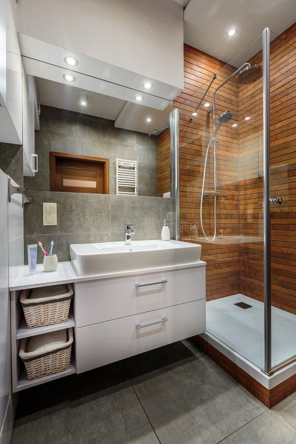 Шикарный интерьер ванной комнаты стоковое изображение
