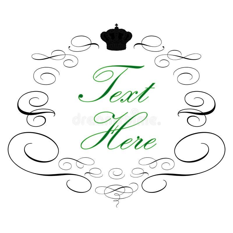 шикарный логос королевский иллюстрация вектора