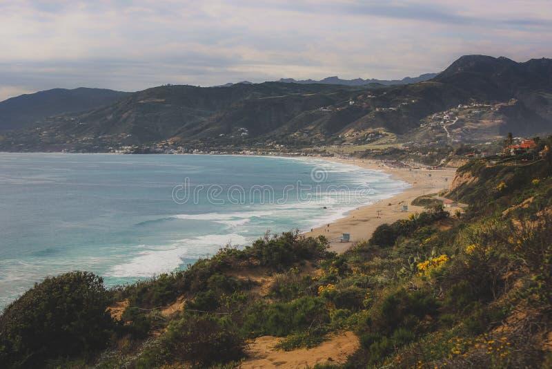 Шикарный пляж государства Dume пункта стоковое изображение rf