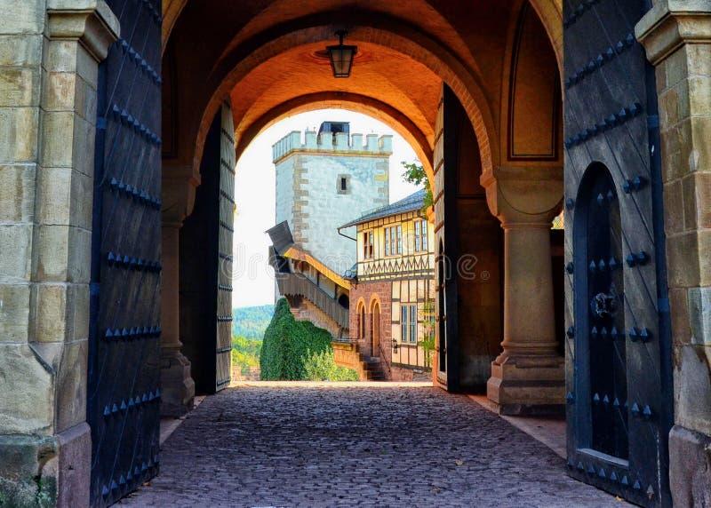 Шикарный Полу-Timbered замок в Германии стоковые фото