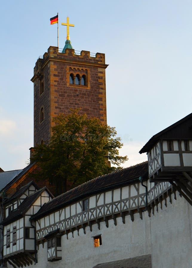 Шикарный Полу-Timbered замок в Германии стоковое фото