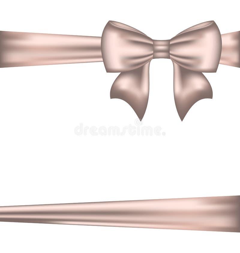 Шикарный смычок для пакуя подарка иллюстрация штока