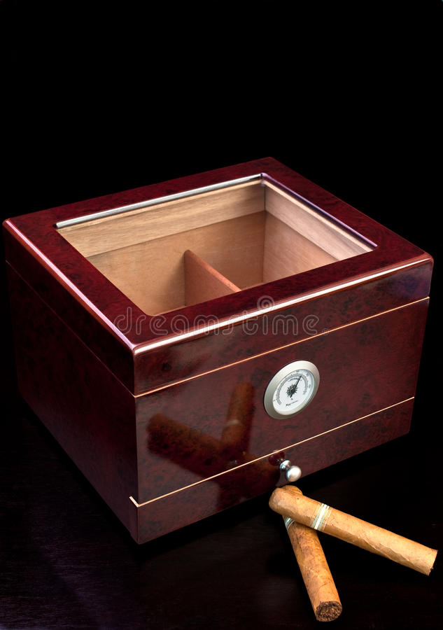 шикарный humidor стоковое изображение