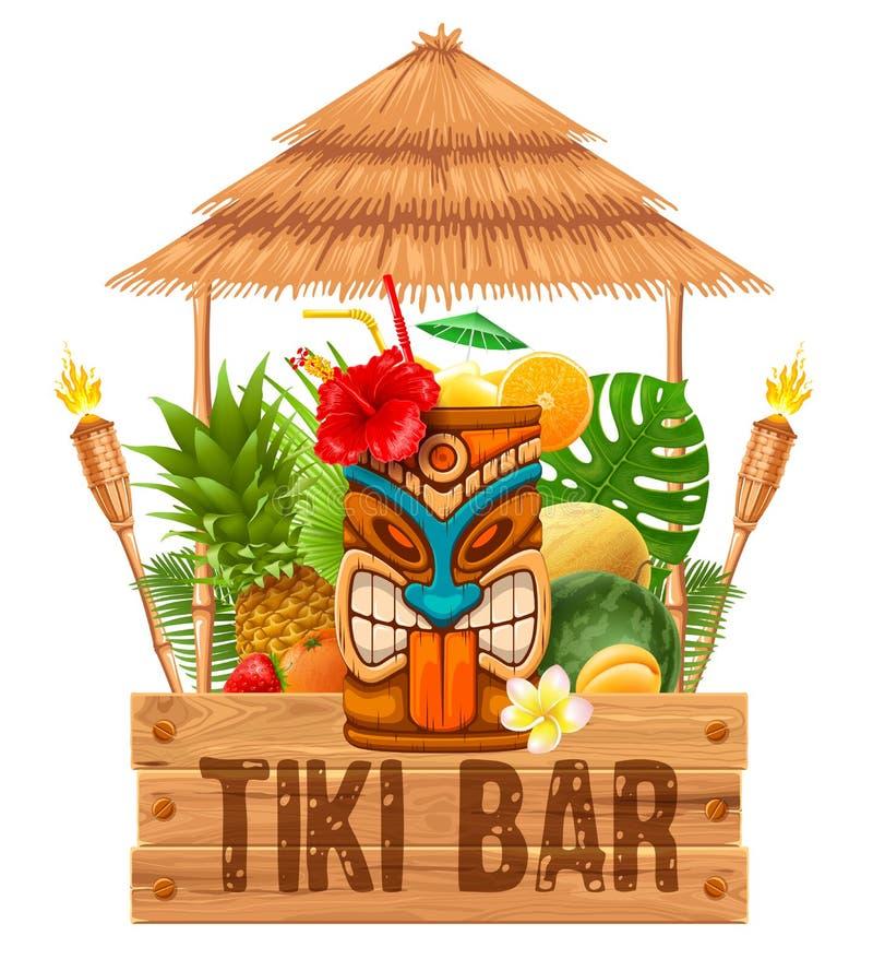 Шильдик бара Tiki иллюстрация вектора