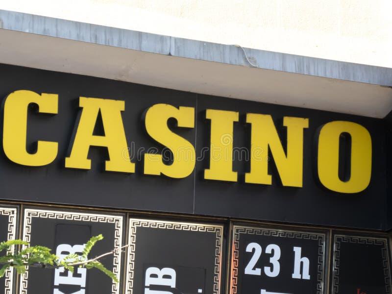 Шильдик казино стоковая фотография rf