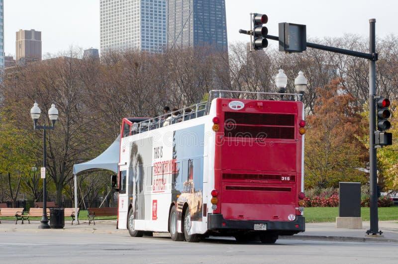 Шина двойной палуба Чикаго стоковые фотографии rf