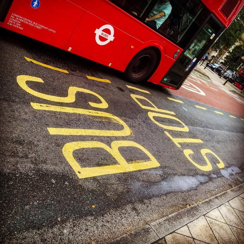 Шина Лондона стоковое изображение