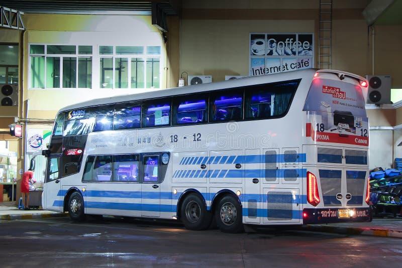 Шина палубы двойника Scania Sombattour стоковая фотография rf