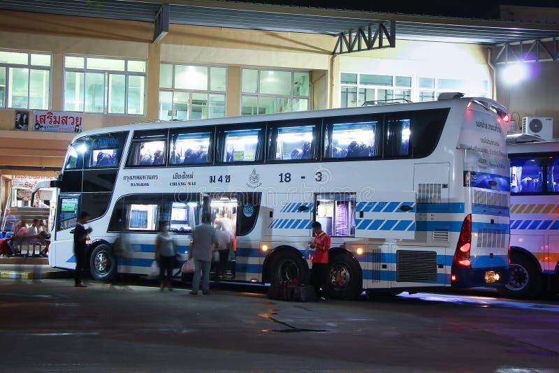 Шина палубы двойника Scania Sombattour стоковые изображения