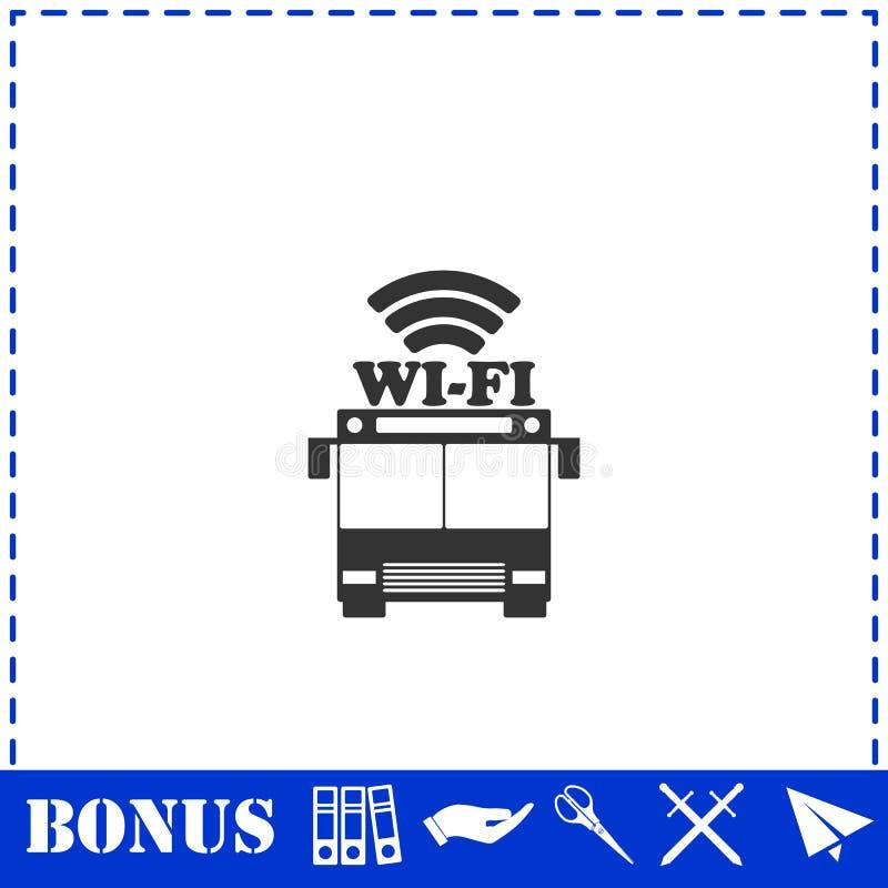 Шина wi-fi иконка плоская бесплатная иллюстрация