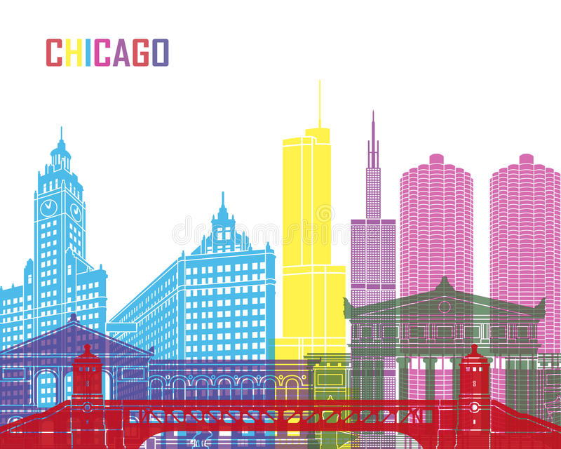 Шипучка горизонта Чикаго иллюстрация штока