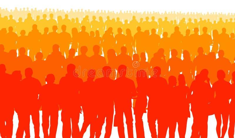 Широкая публика иллюстрация вектора