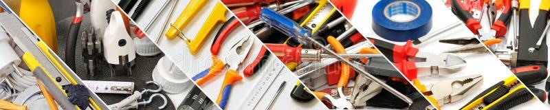 Широкие инструменты панорамы для ремонта стоковые изображения rf