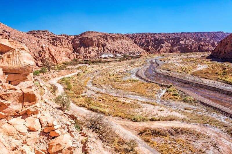 Широкий каньон в Чили стоковая фотография rf