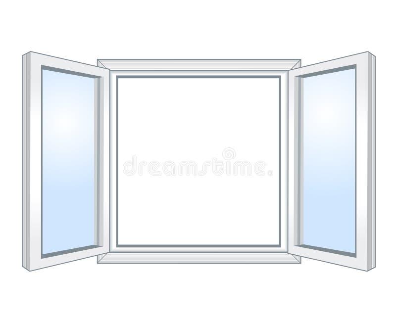 Широкое открытое окно бесплатная иллюстрация