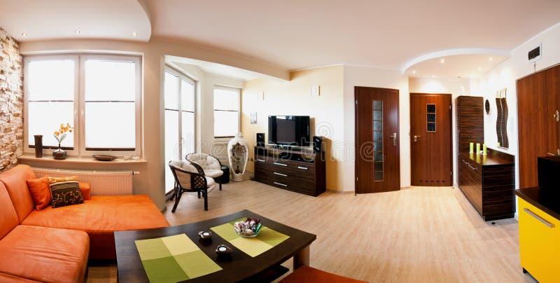 Панорама квартиры стоковое изображение rf