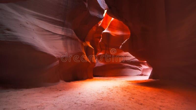 Широкоформатная съемка каньона антилопы каньона слота верхнего в Аризоне стоковые фотографии rf