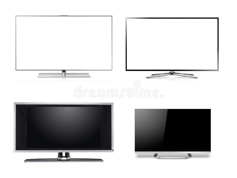Широкоэкранный монитор HDTV LCD стоковое фото