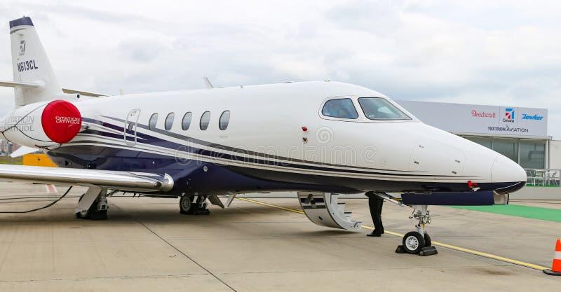 Широта цитации Цессны 680A в Стамбуле Airshow стоковые фото