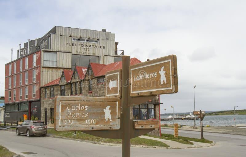 Широта Puerto Natales стоковые фото