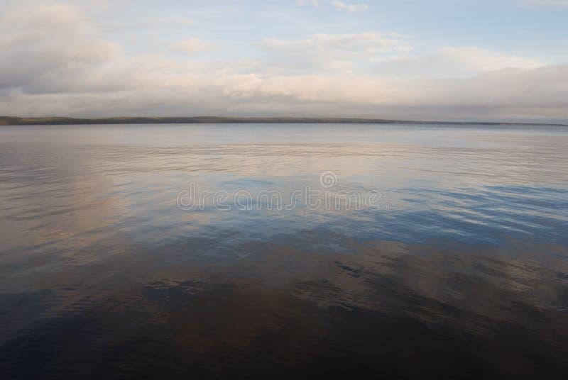 Ширь утра Lake Onega windless стоковые изображения