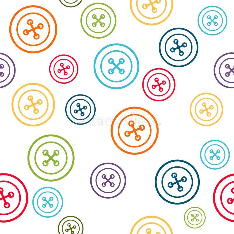 Шить картина с красочной линией кнопками иллюстрация штока