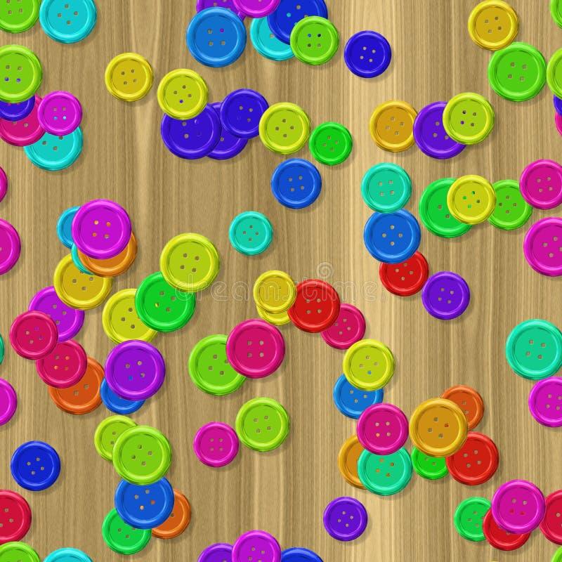 Шить кнопки с безшовной произведенной предпосылкой иллюстрация штока