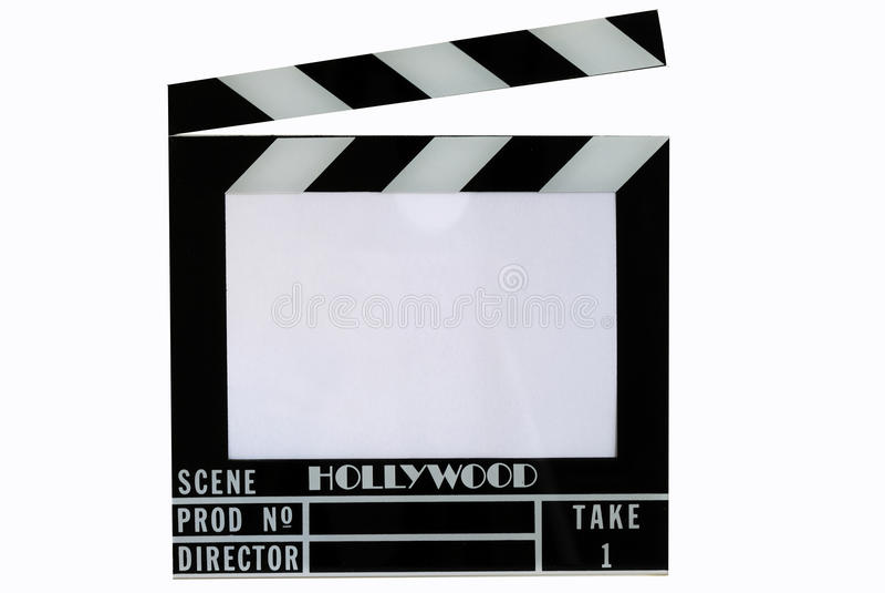 шифер кино hollywood колотушки хлопа доски стоковые фото