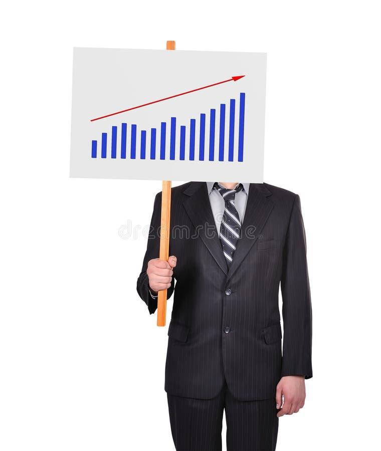 Шильдик с диаграммой выгод иллюстрация вектора