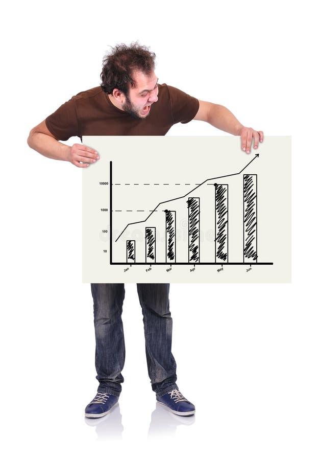 Шильдик с диаграммой иллюстрация вектора