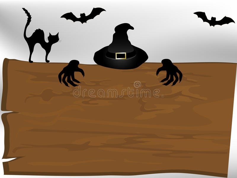 Шильдик хеллоуина Стоковое Изображение RF
