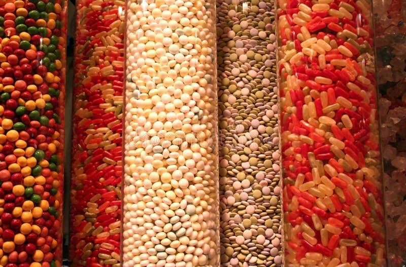 шкафы конфеты стоковое фото rf
