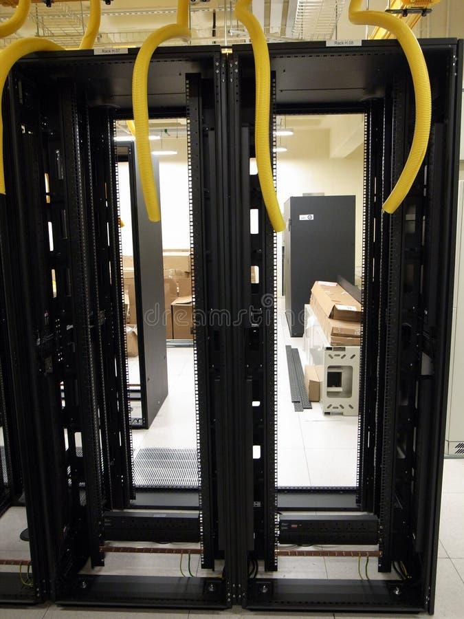 Шкафы центра данных стоковое фото rf