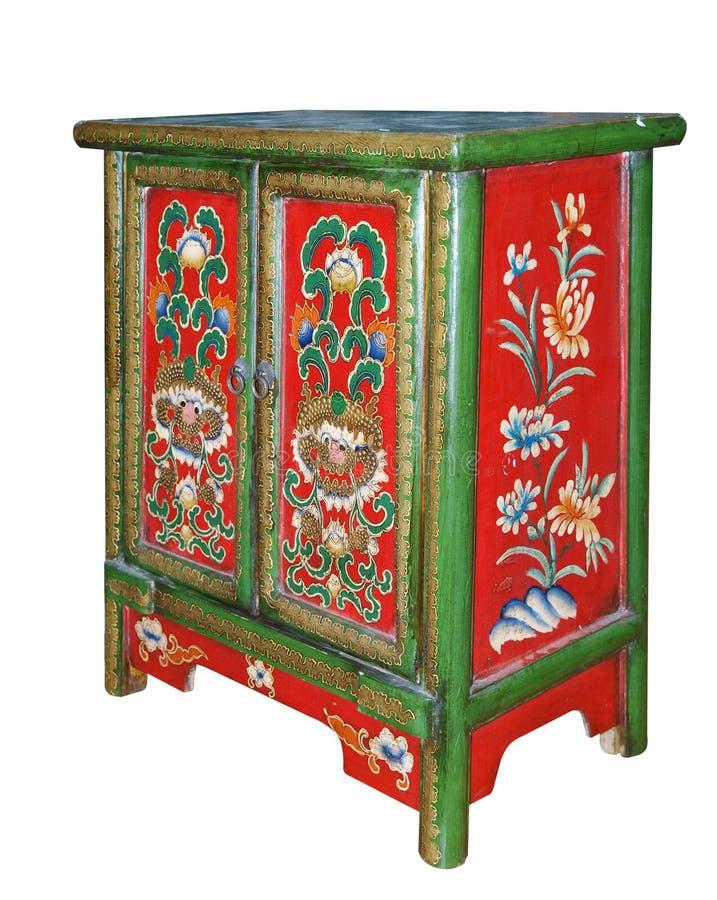 шкаф богато украшенный стоковые изображения rf