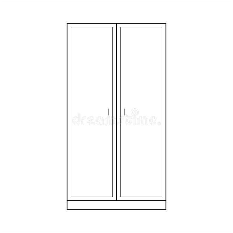Шкаф в простом стиле плана бесплатная иллюстрация