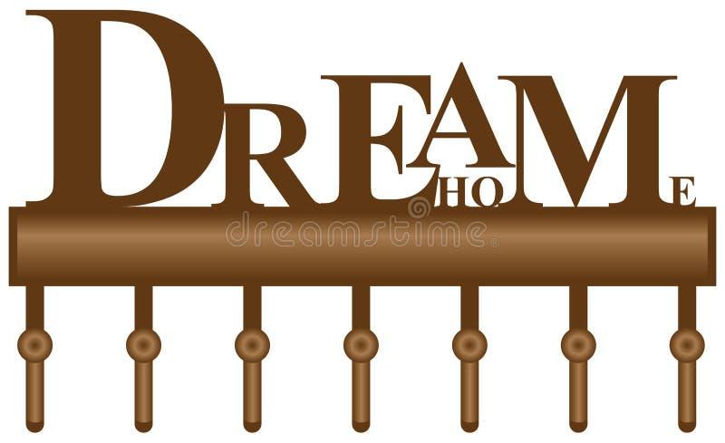 Шкаф для дома мечты ключей бесплатная иллюстрация