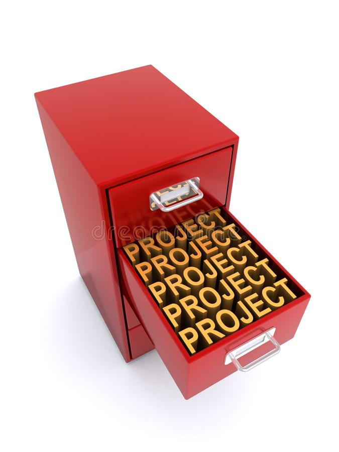 Шкаф для картотеки проекта иллюстрация вектора