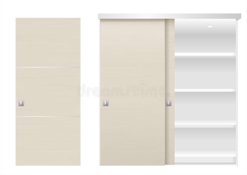 Шкаф раздвижной двери иллюстрация вектора
